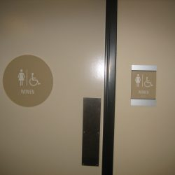 commercial restroom sign